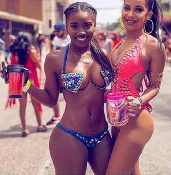 Sexy Women Handmade Diamond Rhinestone Swimsuit Push Up