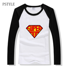spring super mom raglan long sleeve t shirt for women contrst color basic design autumn funny tee graphic gift