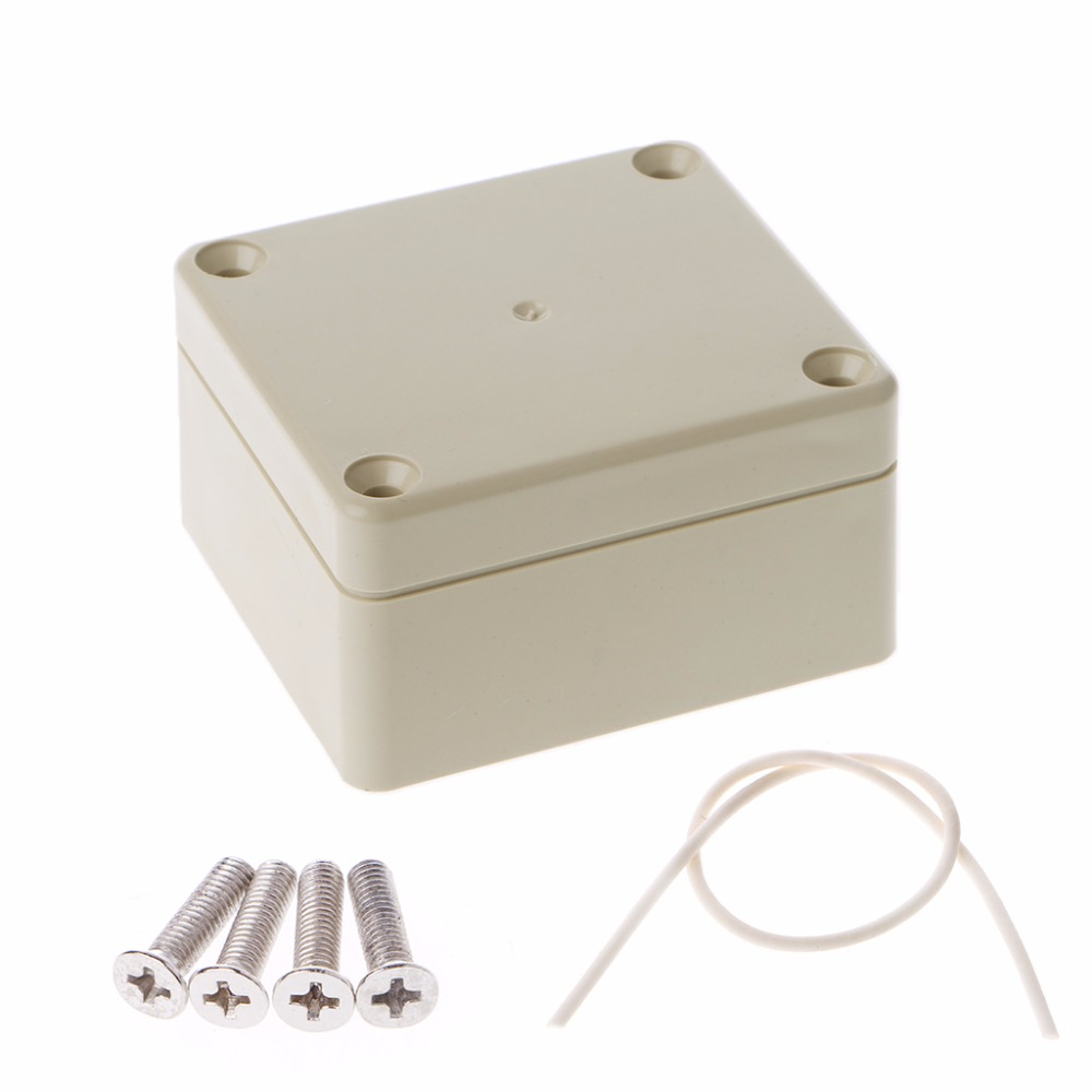 65mm x 58mm x 35mm Waterproof Plastic Enclosure Case DIY Junction Box Electrical Equipment Supplies