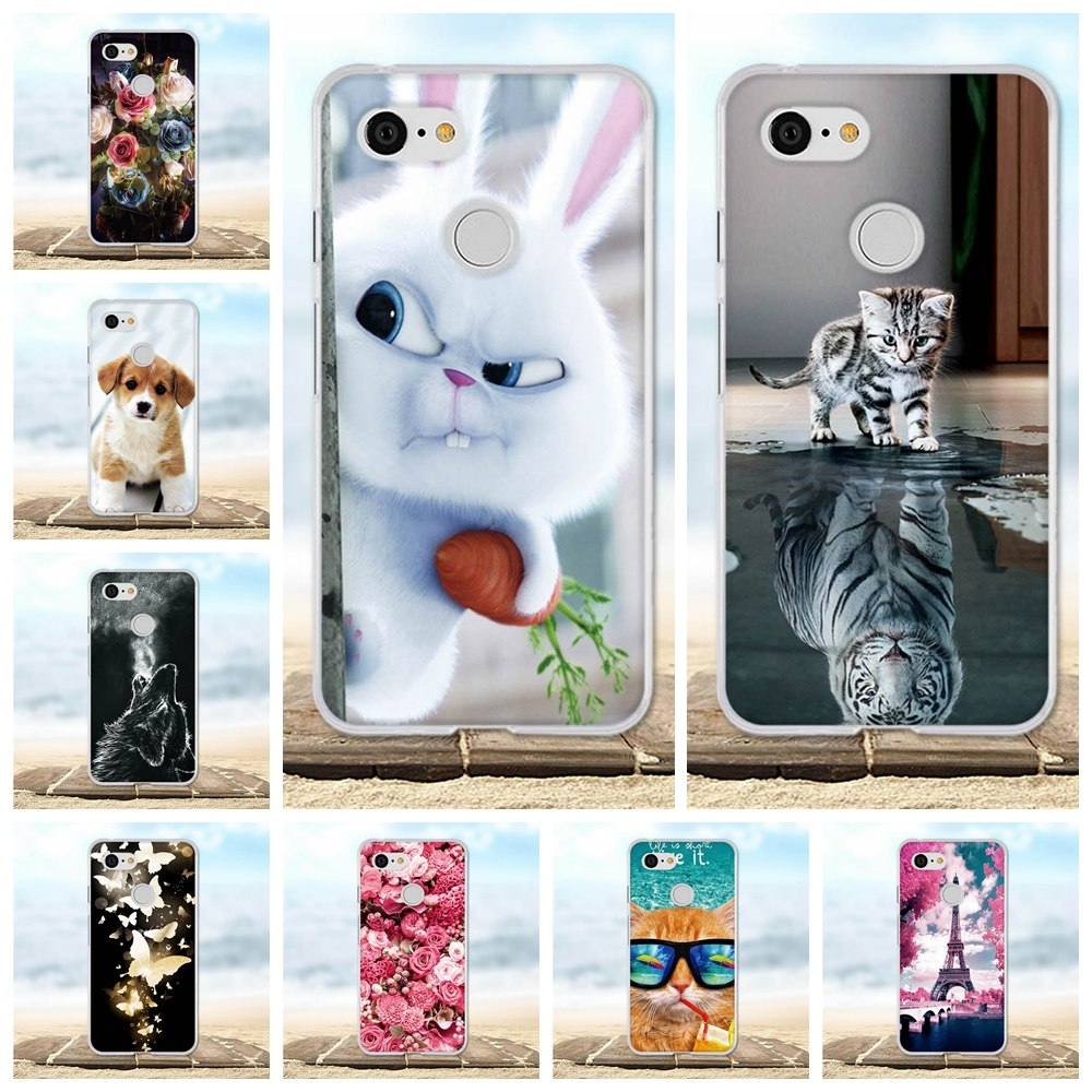 Phone Cases For Google Pixcel 3 Case Painted Protective Silicone TPU Back Cover 3D Cute Animal For Google Pixel 3 Pixel3 Case