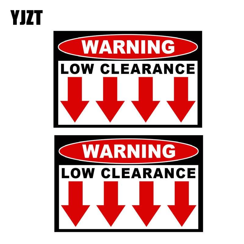 Yjzt 10.2 см * 7.4 см 2x низкий клиренс предупреждающий знак lnterest светоотражающие наклейки Стикеры c1-7173
