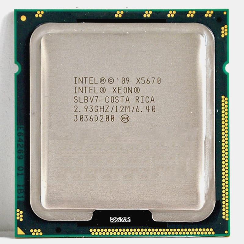 INTEL xeon X5670 processor intel X5670 CPU Six Core 2.93GHz LGA 1366 TDP 95W 12MB CPU warranty 1 year suitable X58 motherbaord