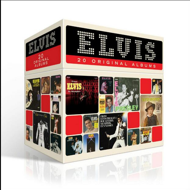 Free Shipping; New Year's gift; Elvis Presley ELVIS 20 ORIGINAL ALBUMS Elvis Presley Complete Collection 20CD Christmas Gift Box