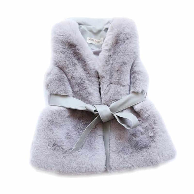 תינוק ילד ילדה פו פרווה מעיל מעיל חורף מסיבת חליפת שלג להאריך ימים יותר עבור תינוק Cild עבה כותנה רוכסן חם OuterwearN310