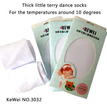 New fall and winter thick warm girls ballet dance pantyhose white color black color children Tights Stockings high quality 2size image