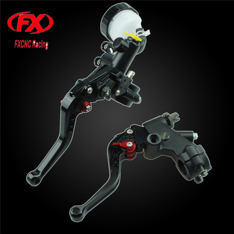 FX CNC 125-600cc Motorcycle Brake Clutch Levers Master Cylinder Hydraulic Brake Cable Clutch For Honda Rebel 250 CMX250C CBR250R