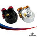 PQY RACING- Aluminum AN10 OIL COOLER ADAPTER SANDWICH TURBO WITH Thermostat And FITTING 3/4-16 UNF,M20*1.5 PQY6746
