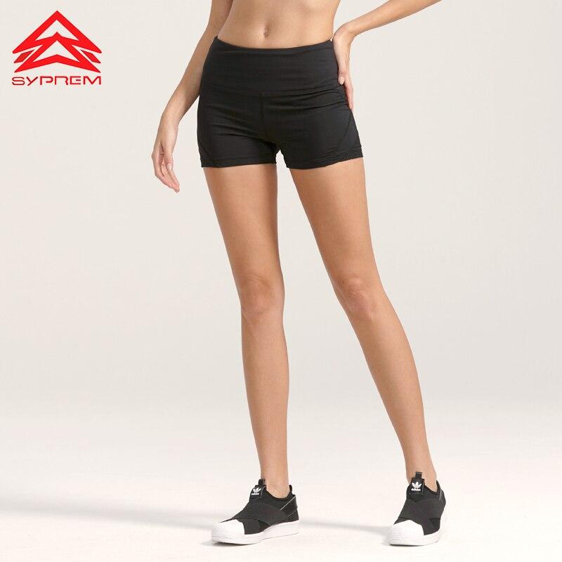 Syprem Damen Laufshorts Sport Atmungsaktiv Schwarz Kurze Leggings - Sportbekleidung und Accessoires - Foto 4