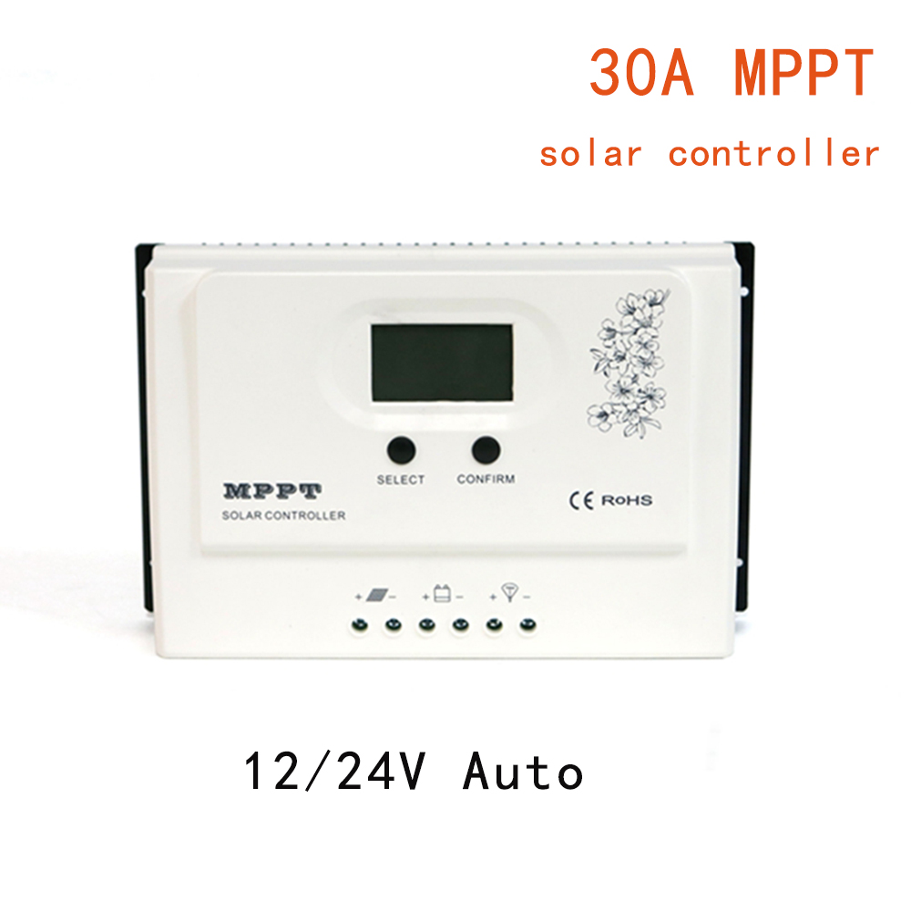 MAYLAR MPPT 30A Solar Charge Controller 12V 24V Auto for Max. DC 150V Input PV Battery Regulator with RS485 wifi and USB 5V3A 30a mppt solar charge controller regulator tracer7810bp high efficiecny 12v 24v auto work with pc usb communication cable