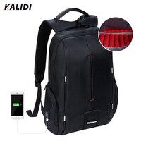 KALIDI Waterproof Laptop Backpack USB Charger 15 6 Inch School Bags Casual Backpack Men Women 15