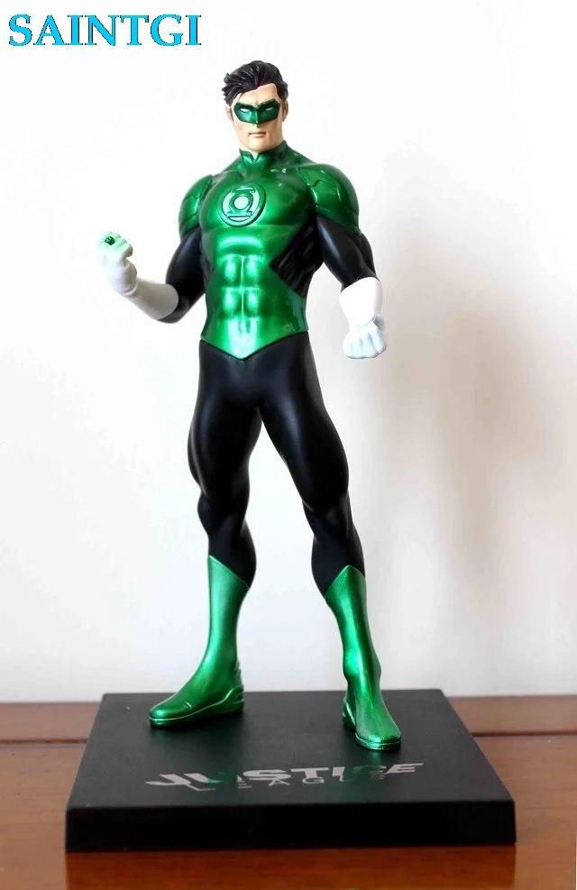 ФОТО SAINTGI Green Lantern dc Super Hero Captain America Marvel PVC 30cm Collection Model Gift Action Figure Doll Boy Toy gift ARTFX