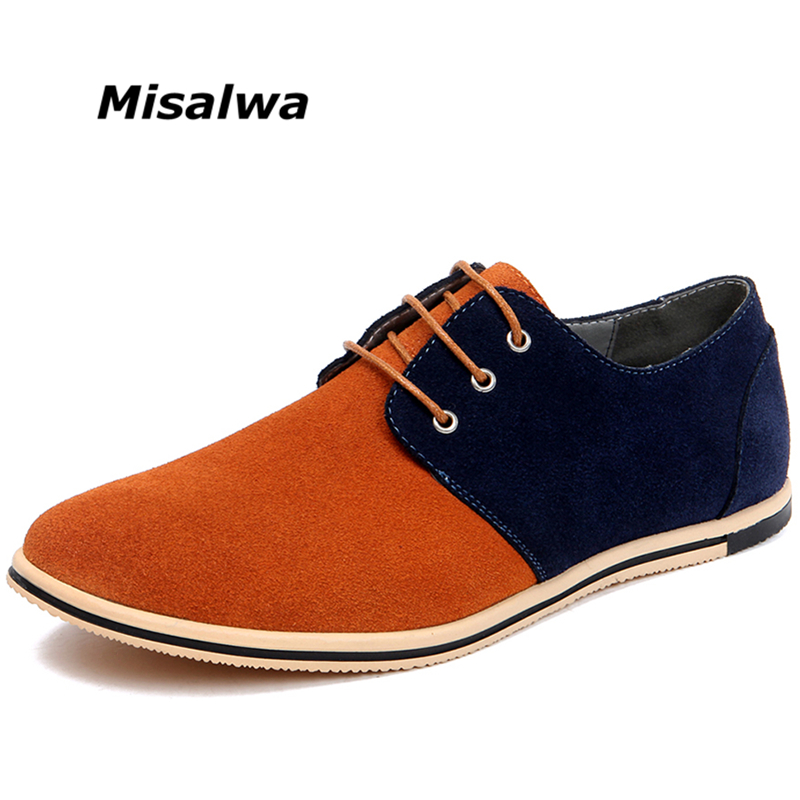 купить 2018 New Hot Sale Drop Shipping Misalwa Men Casual Suede Driving Shoes Men Daily Office Shoes Comfortable Footwear Big Size по цене 1679.54 рублей