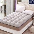 Soft  Grey quilted Mattress Topper with Straps home furniture Five Star Hotel fast Shipping