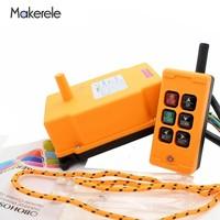 Бесплатная доставка MKHS 6 PA66 422,4 438 МГц беспроводной передатчик кнопочный переключатель кран промышленный пульт дистанционного управления о