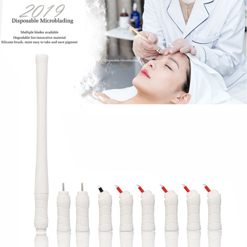 Mermaid Manual Hand Tool Disposable Microshading pen and Disposable Microblading Blade with Blister EO Gas Sterilized Packing