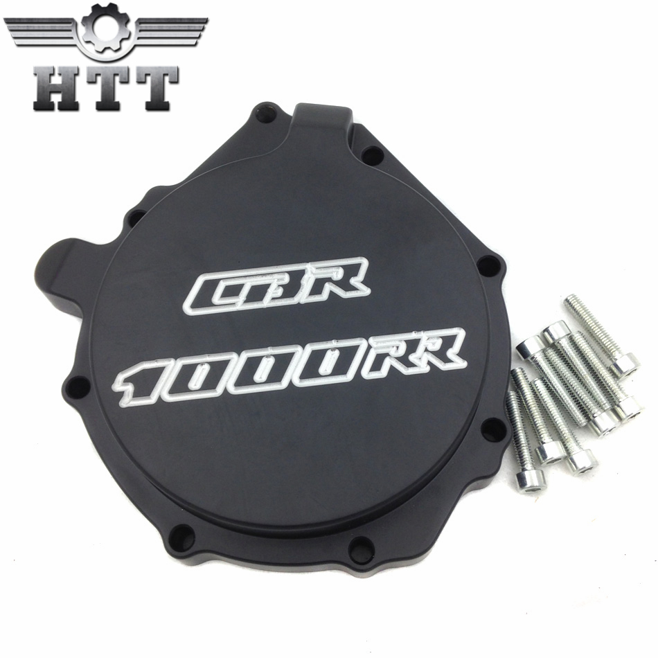 Aftermarket free shipping motorcycle parts  Engine Stator cover   for Honda CBR1000RR 2004 2005 2006 2007  Left side BLACK aftermarket free shipping motorcycle parts brake clutch hand lever for honda cbr1000rr cbr 1000 2004 2005 2006 2007 carbon