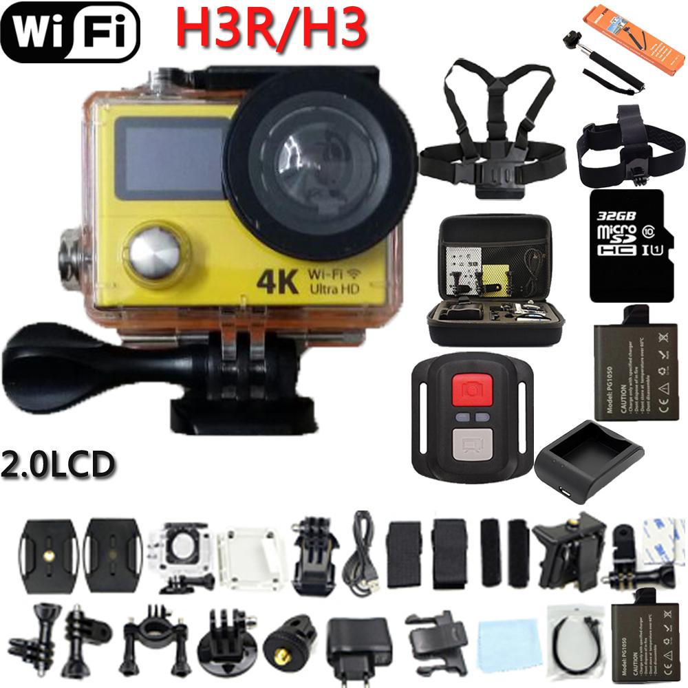 """Prix pour Action Caméra D'origine H3R/H3 Ultra 4 K HD 2.0 """"Double Écran Action Caméra Étanche 170D Lentille cam"""