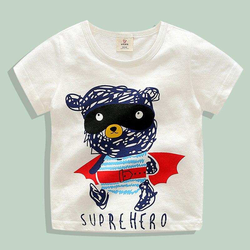 На возраст от 2-10 л. футболка для мальчиков девочек милый поросенок костюм футболки детские топы Дизайнерская одежда для малышей футболка дл...