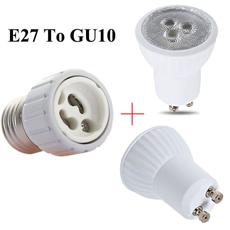 E27 To GU10 Conversion Lamp Holder MR11 Led 110V 220V GU10 Mini Led Bulb 3W 35mm Led Spotlight For Kitchen Range Hood Lamps