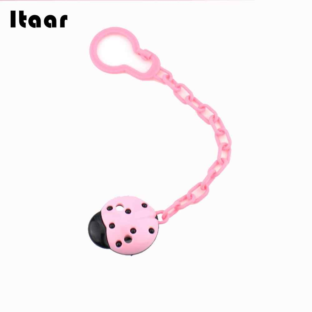 Infant Nipple Chain Creative Newborn Nipple Chain Toddler Soother 4 Colors Clip Feeding Baby Nipple Chain