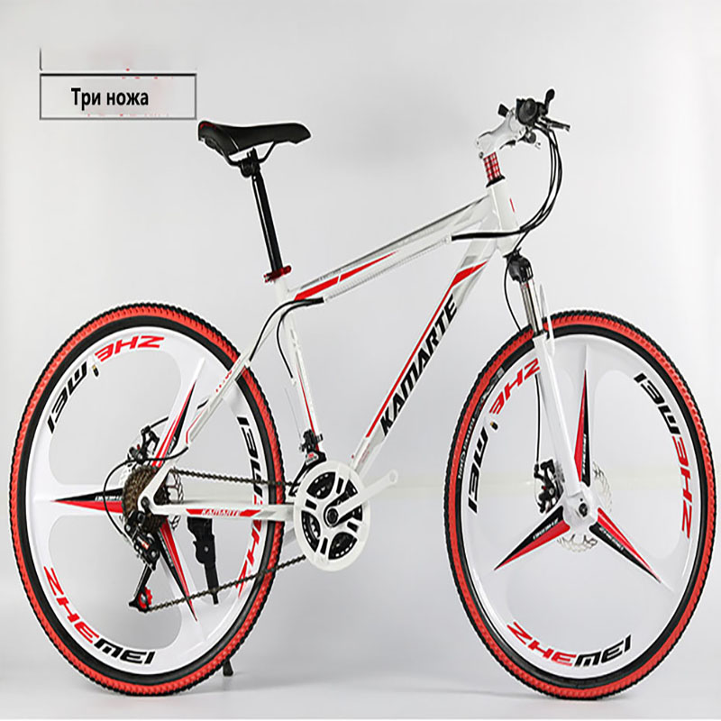 Bike adult shock mountain bike dual disc brake integrated cross-country variable speed bicycle new arrival 24 inch 27 speed image