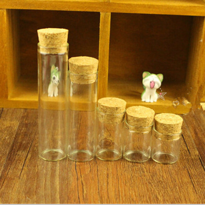4ml Small Glass Vials Jars Test Tube With Cork Stopper Empty Glass Transparent Clear Bottles2