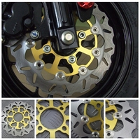 Motorcycle Brake Disks For HONDA GROM MSX125 MSX125SF 220mm Floating Front Brake Disc Rotor