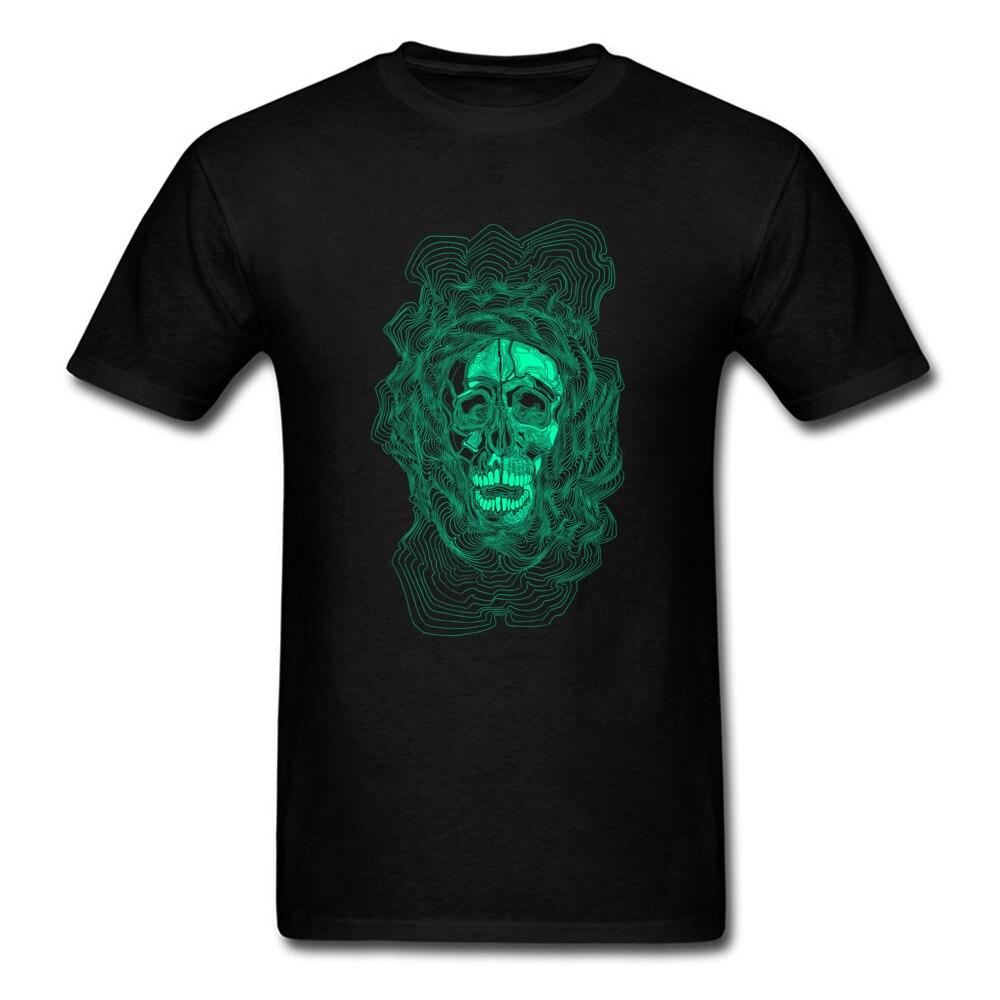 oldskull 100% Cotton T Shirt for Men Hip hop Top T-shirts Comics Dominant O Neck Sweatshirts Short Sleeve Free Shipping oldskull black