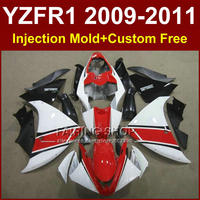 White Motorcycle body parts for YAMAHA fairings YZFR1 2009 2010 2011 Injection YZFR1 09 10 11 12 R1 bodyworks YZF1000 R1 +7Gifts