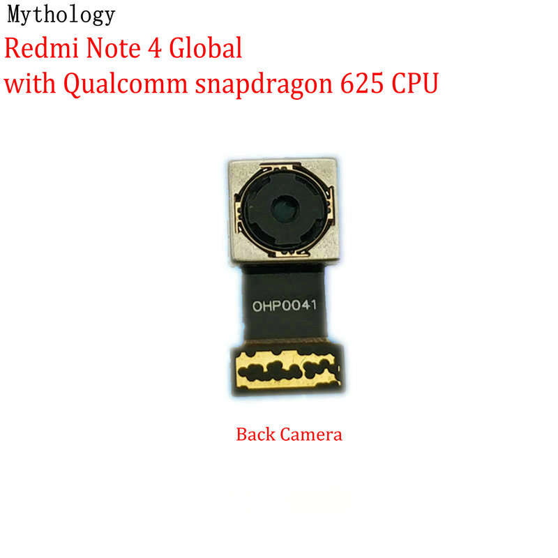 Mythology For Xiaomi Redmi Note 4 4X Global MTK Version Big Back Camera Module Mobile Phone Rear Camera Flex Cable Replacement