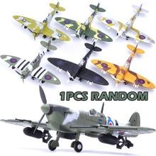 1/48 Conjuntos de Ferramentas de Construção Montar Brinquedos Modelo Lutador Escala Flanker Diecast Aviões de Combate Pirata Com Base F4U Cor Aleatória