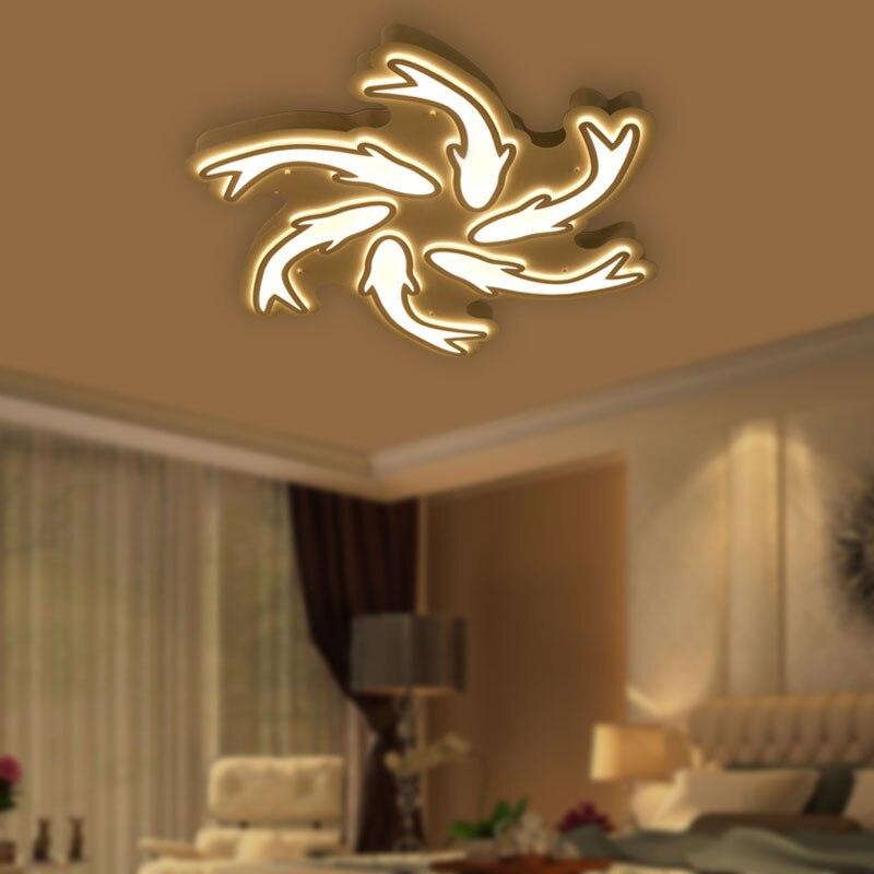 LED Ceiling Light Modern Children Bedroom Living Room Kitchen Ceiling Lamp Fish Style Acrylic Lighting Fixture BLC6780