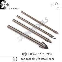 긴 spearhead 팁 유리 드릴 직경 3mm 4mm 5mm 6mm 8mm 10mm 12mm 유리 드릴 금속 세라믹 타일 드릴 비트