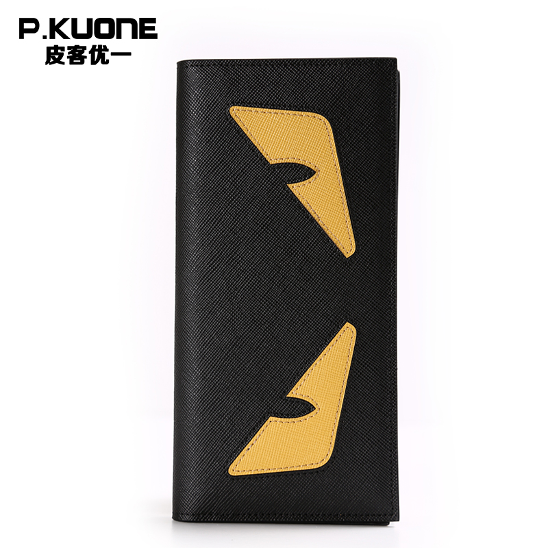 ФОТО Genuine Leather Men Clutch Wallets Luxury Brand Casual Women Wallet Long Wallet Purse Money Clip Designer Unisex Wallet