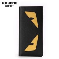 Genuine Leather Men Clutch Wallets Luxury Brand Casual Women Wallet Long Wallet Purse Money Clip Designer Unisex Wallet