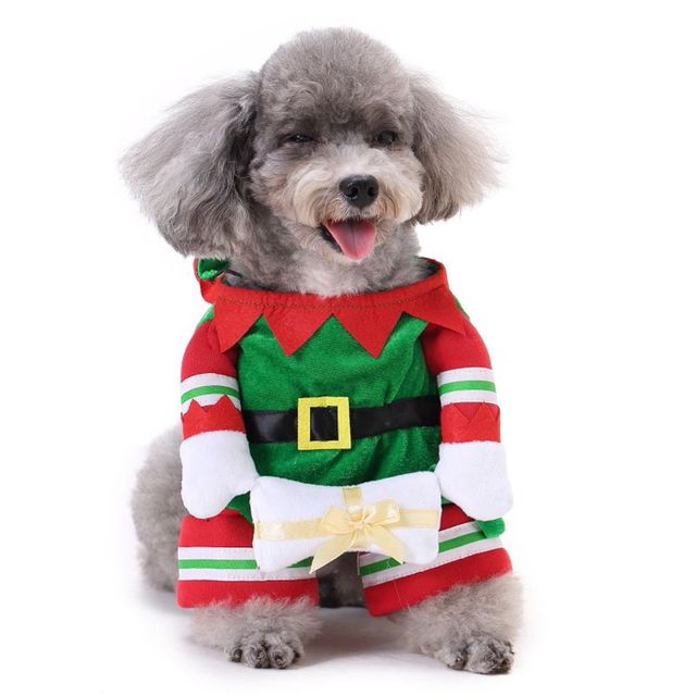 Creative Dog Christmas Clothes for Small Dogs Clothing Dog Funny Costumes  Coats Jackets Yorkies Chihuahua Clothes With Hat - Creative Dog Christmas Clothes For Small Dogs Clothing Dog Funny