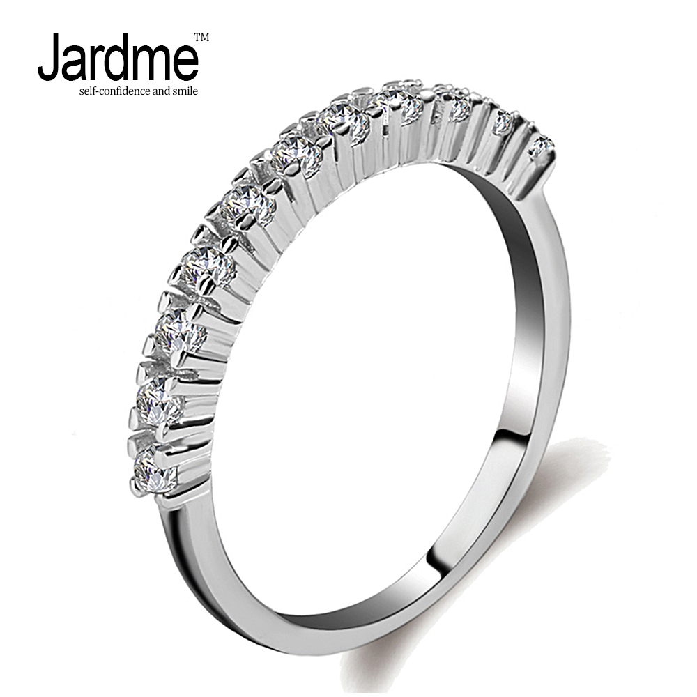 Jardme Wedding Rings for Women Cubic Zirconia Men Jewellery Female Silver 925 Jewelry En ...
