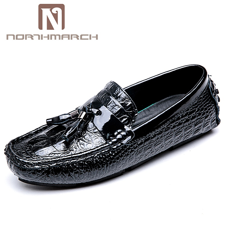 NORTHMARCH Brand Fashion Soft Split Leather Breathable Men's Shoes Slip-On Moccasins Men Loafers Driving Casual Shoes Men zplover fashion men shoes casual spring autumn men driving shoes loafers leather boat shoes men breathable casual flats loafers