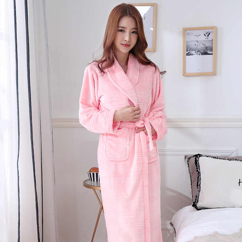 442137ef88 ... New Arrival Chinese Female Coral Fleece Robe Kimono Gown Winter Thick  Warm Nightgown Sleepwear Women Casual ...
