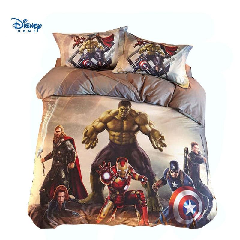 the avengers hero comforter bedding set 100 cotton marvel captain america bedroom decor boy gift bed sheet 3 4 5 pc duvet cover
