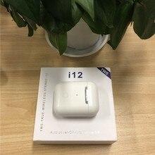 Новинка i12 Tws Bluetooth 5,0 наушники беспроводные наушники Pods Touch control Гарнитура 3d стерео наушники с зарядным устройством