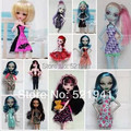 Free Shipping 10items= Clothes + Hangers Genuine Clothing for Monster High doll,4-styles Clothes For Monster High Dolls
