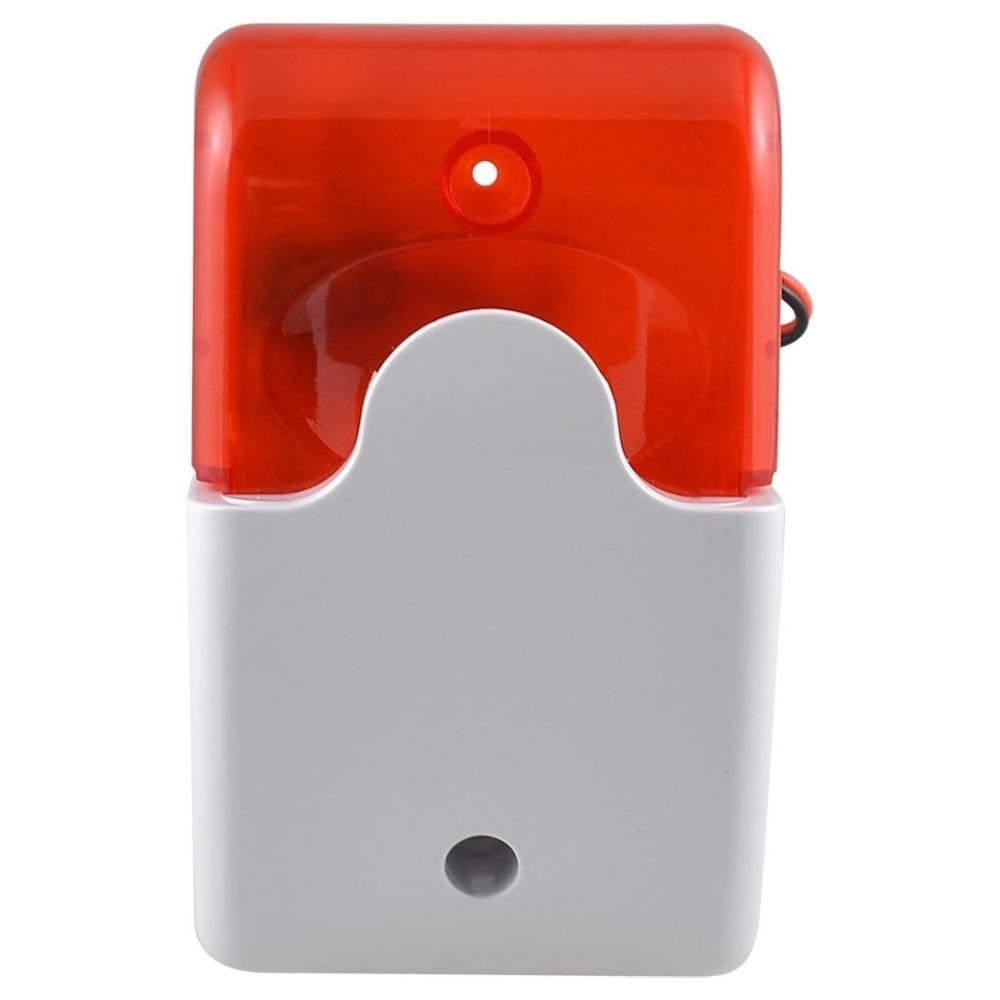 10 PCS 12VDC Security Alarm Siren Strobe Flash siren Indoor use GSM alarm anti theft 110DB Red LED For Free Shipping