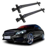 2PCS Black Alloy Car Carrier Storage Roof Rack Holder For Mercedes Benz Class E 2009 2010
