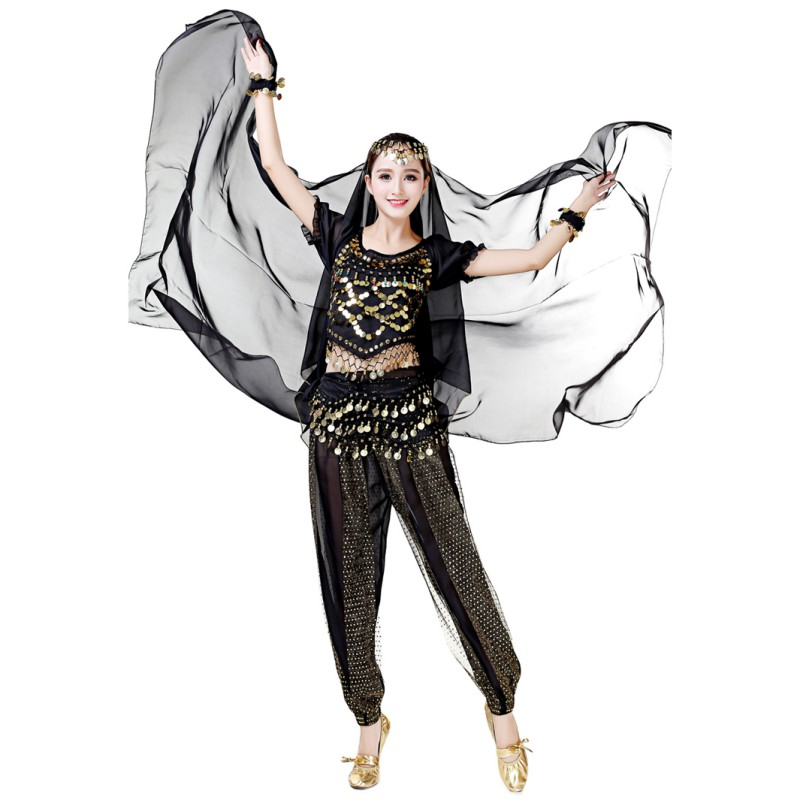 Performance Artificial-Silk Belly Dancing Prop Scarf Light Texture Half Circle Chiffon Shawls Women Belly Dance Veil
