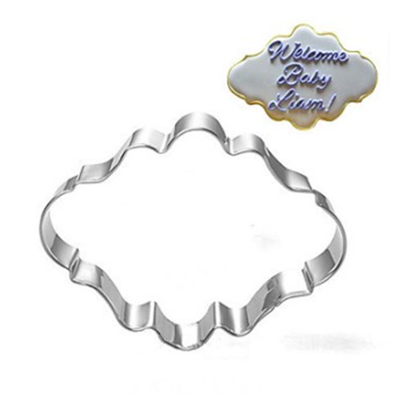 Wedding Blessing Frame Shape Cookie Cutters 4pcs Stainless Steel Cake Stencil Biscuit Chocolate Mold Kitchen Pastry Tools in Baking Pastry Tools from Home Garden