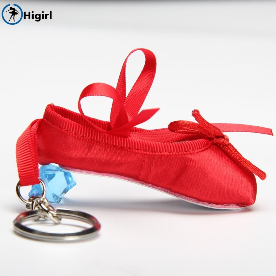 Kids Ballerina Mini Ballet Shoe Ballet Keychain Ballet Gift Satin Pointe Shoes Key Ring Pink Dance Shoes Ballet Charm ChainDT009