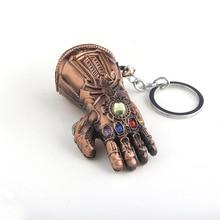 2019 New Marvel Hero Figurine Hulk Fist Keychain Iron Man Hand Car Key Ring Thanos Glove Infinity Gauntlet Chain brinquedo