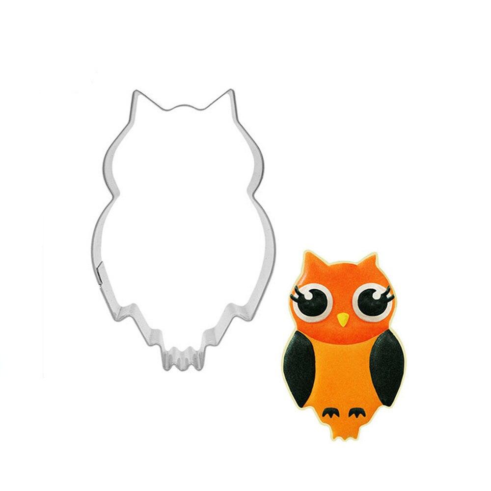 LARGE FONDANT COOKIE CUTTERS OWL CUTTER SET