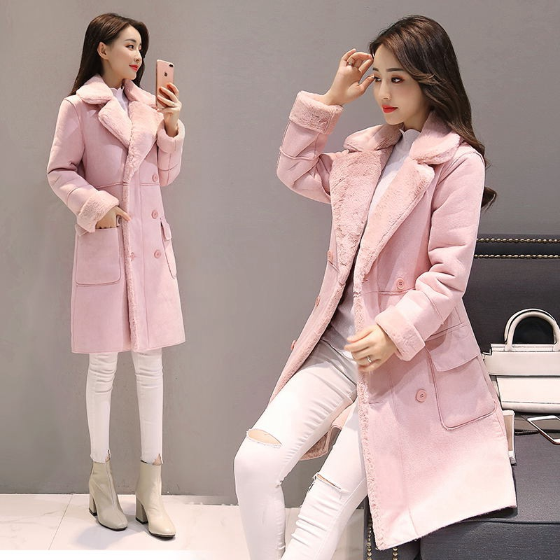 Pelle Sezione Lungo 2017 Femminile Velluto Agnello New Giacca Faux Cappotto Cotone Scamosciata Winter 2 1 Fashion Vestiti Di Del A813 Spessore 6rBI6Ow